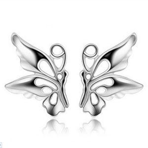 Zilveren knopjes 'Vlinder'